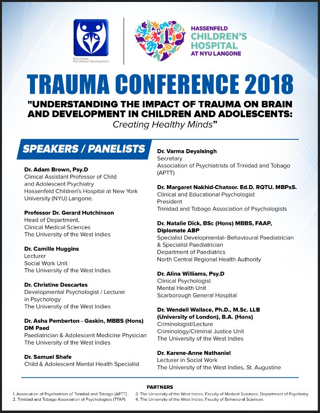 Don't Miss! Trauma Conference – 13th August 2018 – Understanding The